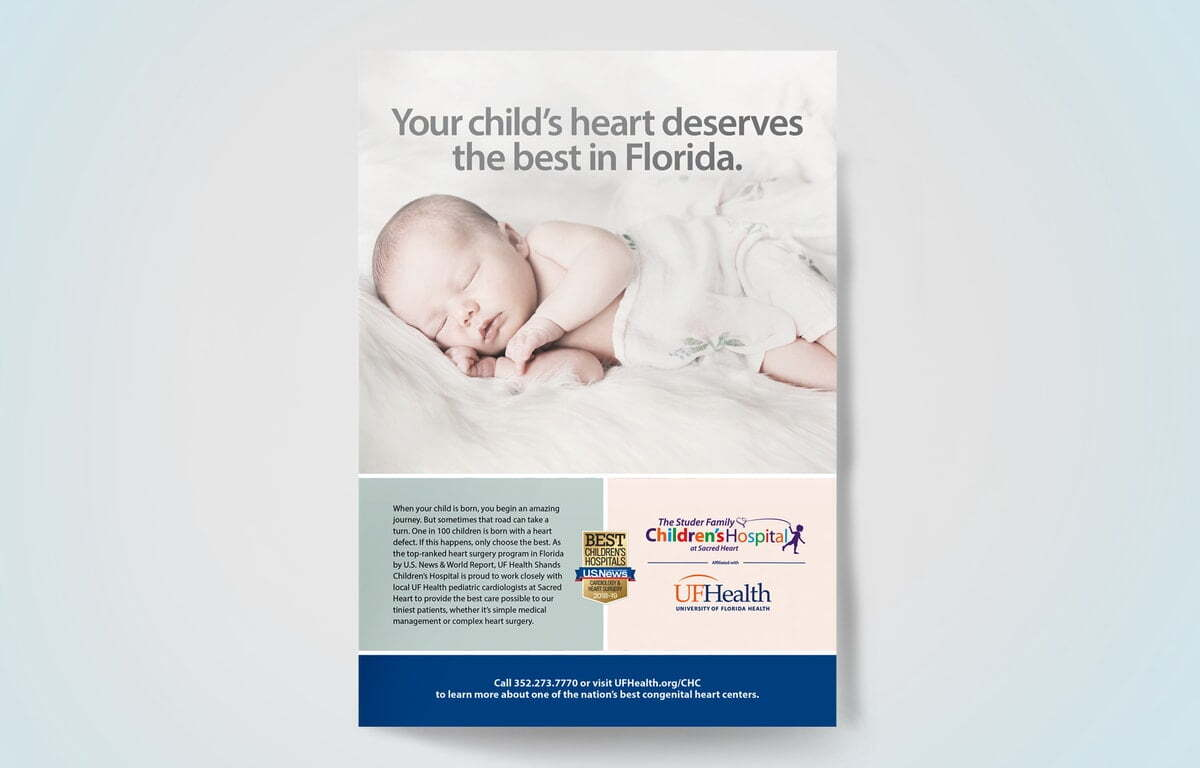 University of Florida Health Childrens Heart Magazine Advertising